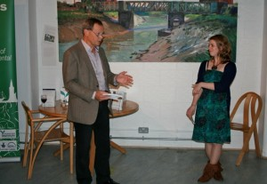 Ian Roderick, Director, and Emmelie Brownlee, Communications and Events Manager, at the launch of Bristol's Green Roots.