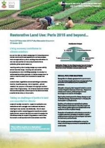 Restorative Land Use Nov 2105 Front Cover